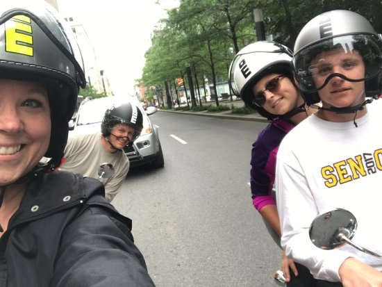 Family of 4 having a fun time in Montreal!