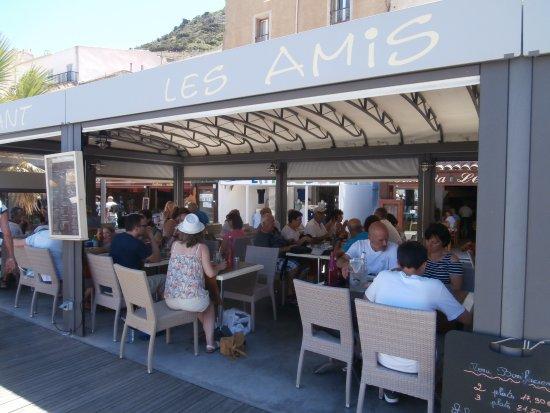Pizzeria Grill des Amis: Terrasse sur le port de Bonifacio