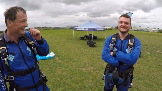 Salisbury, UK: My son me straight after we landed