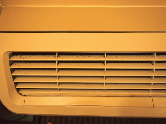 North Little Rock, AR: Mold/mildew in A/C vents in room