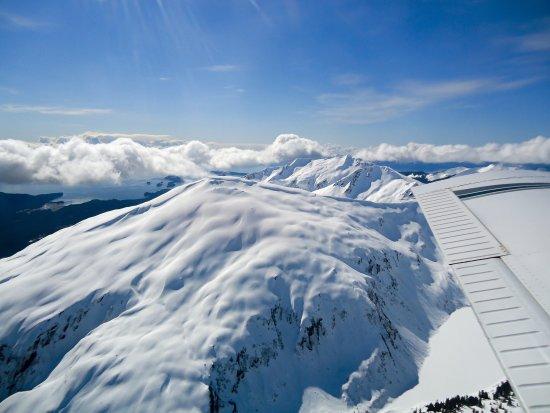 Gustavus, AK: Flight seeing over Excursion Ridge