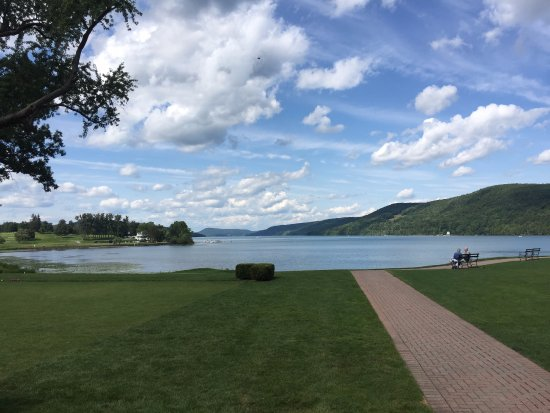 The Otesaga Resort Hotel: View from grounds of The Otesaga