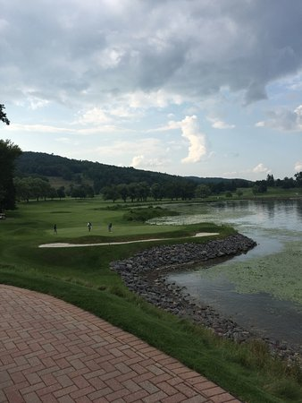 The Otesaga Resort Hotel: View from hotel of golf course