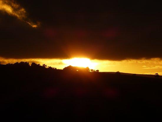 Hulme End, UK : Sunset from Gaia Lodge, Upper Hurst Farm. 12 August 2017.