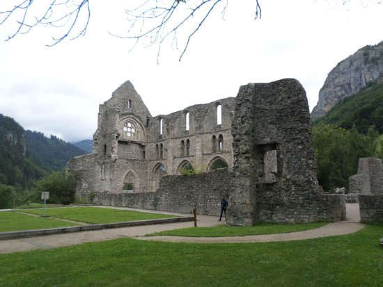 Saint Jean d'Aulps, Frankrike: vue d'ensemble de l'abbaye