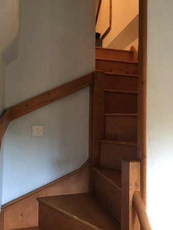 Winterborne Zelston, UK: Small staircase leading to bathroom