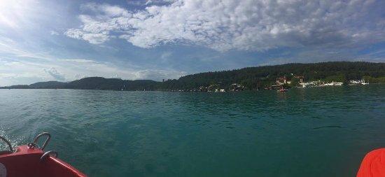 Lake Worthersee: Výhled z loďky