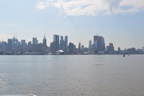 Weehawken, NJ: view of city from the ferry