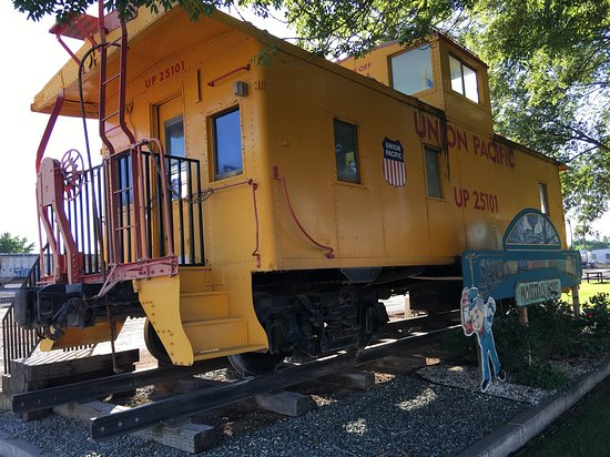 Mountain Home, ID: Cool old caboose