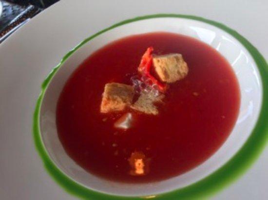 Greenough, MT: Gorgeous gazpacho was divine!
