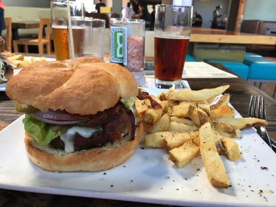 Great Burgers, beer and fries!