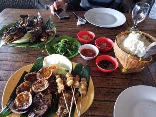 Teba Cafe Jimbaran: Seafood galore