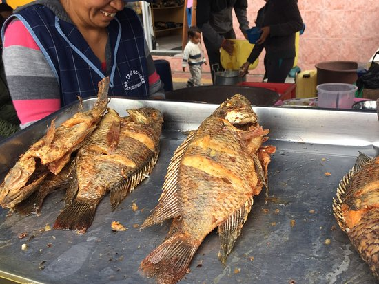Otavalo Market: Fish Fry.