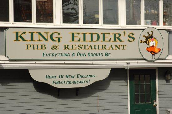 Damariscotta, ME: King Eiders Sign