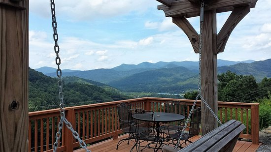 Swannanoa, NC: View from deck on site #35