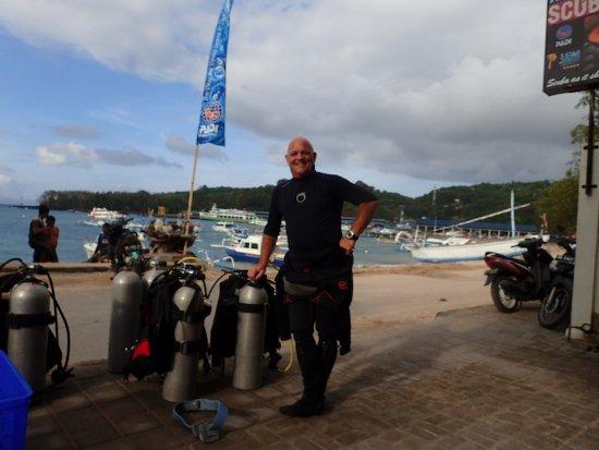Padangbai, Indonesia: Bruno at the beach
