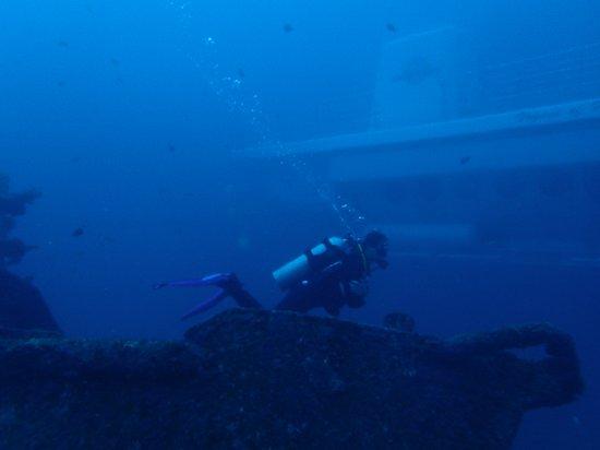 Padangbai, Indonesia: The Odysee submarine while diving