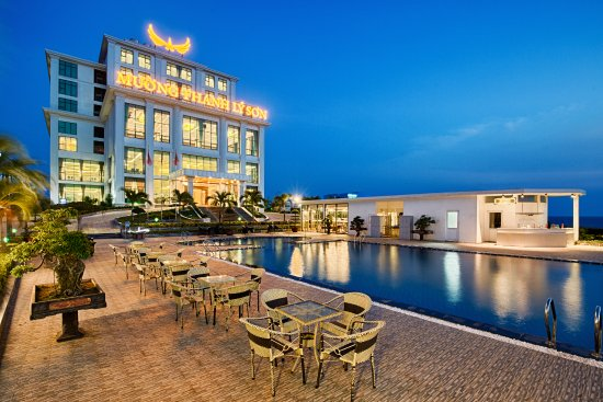 Quang Ngai, Vietnam: The hotel with pool