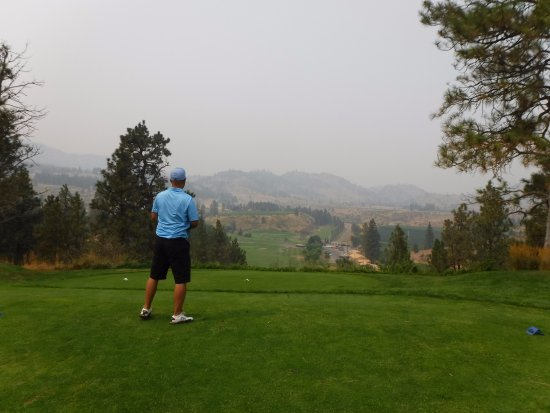 Oliver, Canada: About 499 yards to go