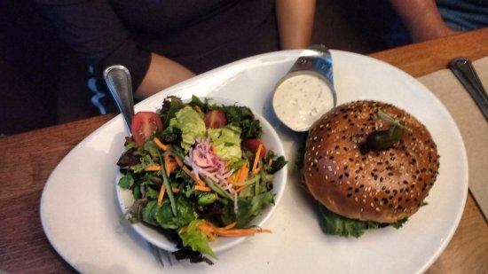 Abbotsford, Canada : Shiitake mushroom burger had a great taste