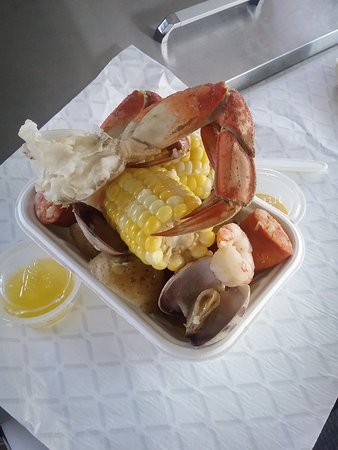 Fanny Bay, Канада: Freash seafood boil for one, yum