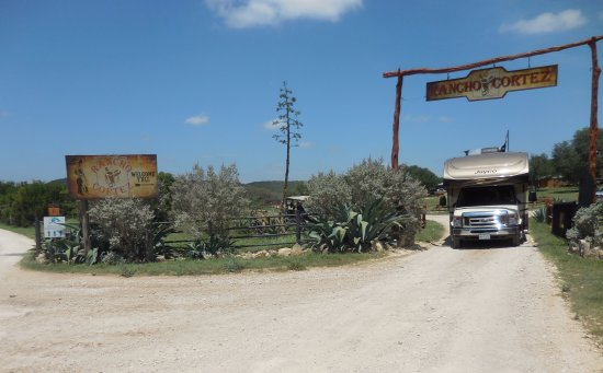 RV at entrance TO RANCHO CORTEZ