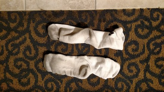 Chula Vista, CA: These socks we on before sleeping, in bed, and 30 min in the morning. Then they looked like this