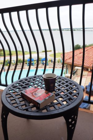 Rockwall, TX: Relaxing morning time on the balcony.