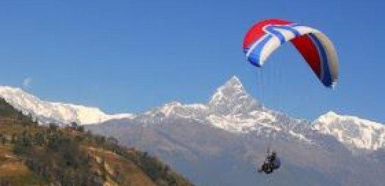Kathmandu Valley, Nepal: Paragliding in Pokhara,Nepal