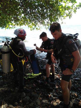 Pantai Lovina, Indonesia: The way the world lern's to dive,,US liberty ship wreck.tulamben bali.