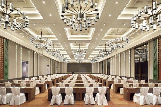 Dayi County, China: Grand Ballroom desk set up