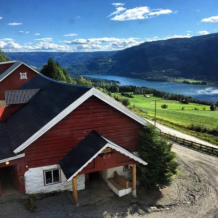 Tretten, Norwegen: Udsigten fra vort værelse 13/8 2017