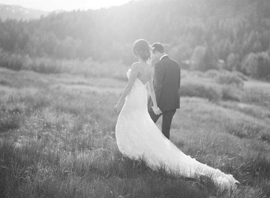 Olympic Valley, CA: RSC_Wedding_BrideGroom_Meadow_BWhite
