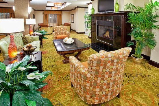 Relax by our fire at the Holiday Inn  & Suites Anderson exit 19B