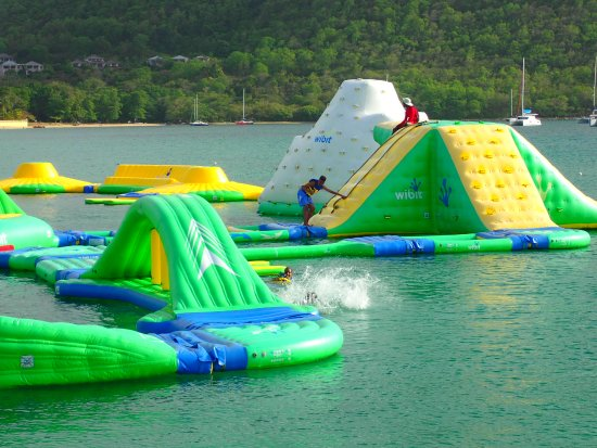 Gros Islet, St. Lucia: Splash Island Water Park fun