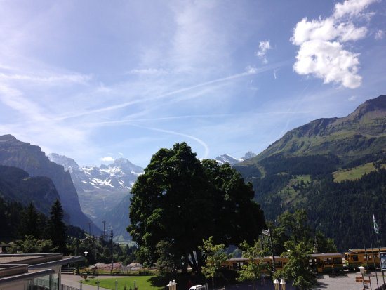 Hotel Silberhorn: The view from our balcony