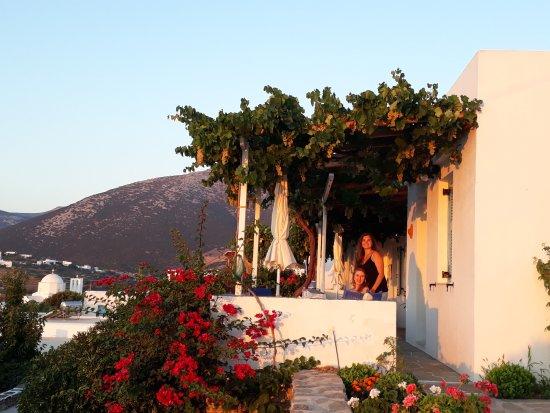 Nikoletta Geronti Pension: our balcony and room view, sunrise.