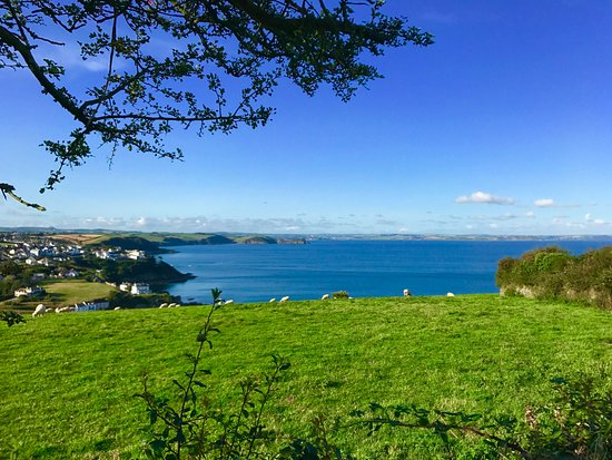 Bodrugan Barton: View from our Pod over Mevagissy