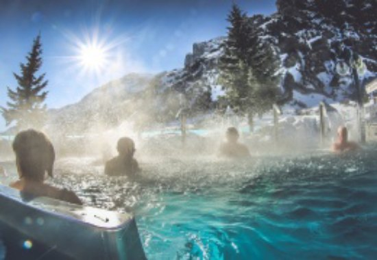 Leukerbad Therme : Winter in der Therme