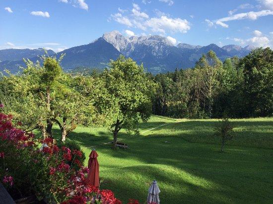 Alpenhotel Hundsreitlehen: Vue de notre chambre (avec balcon)