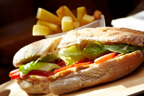 Stone House Hotel Restaurant: A selection of freshly cut sandwiches on our lunch menu
