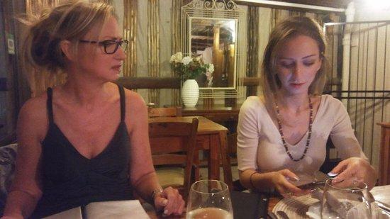 Thyme at Rosemary's Restaurant: Rachelle and Binx from Australia