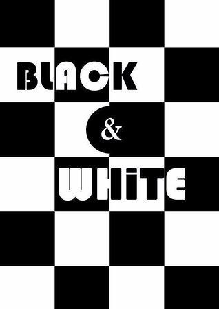 Abergele, UK: Black & White Our Easiest Room