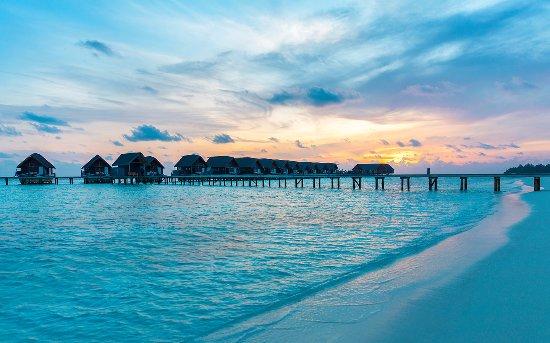 Sunset in COMO Cocoa Island, Maldives