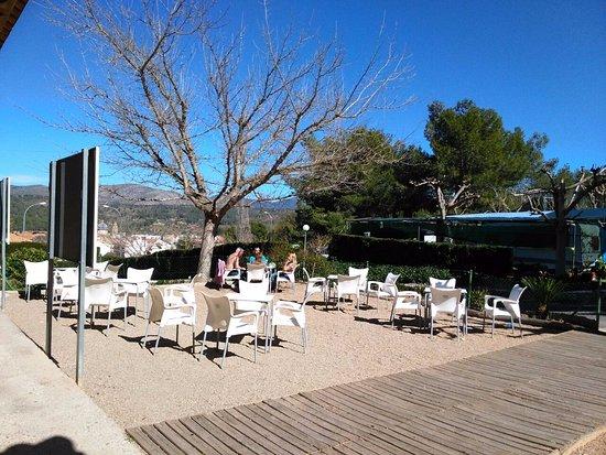 Navajas, Spain: Terraza