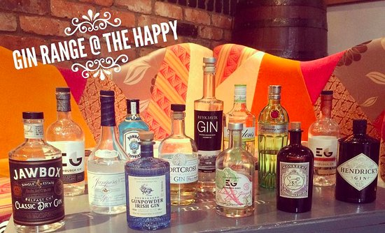 Eglinton, UK: Gin Range at The Happy Landing
