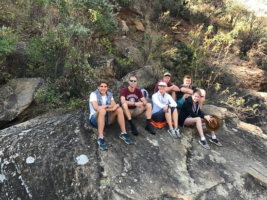 uKhahlamba-Drakensberg Park, Sydafrika: Having a rest after the boulder hopping.