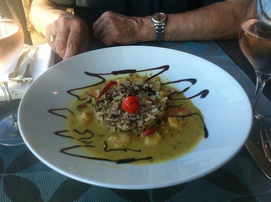 Hotel Oceania Saint Malo : room service au top (riz sauvage /crevettes au curry)