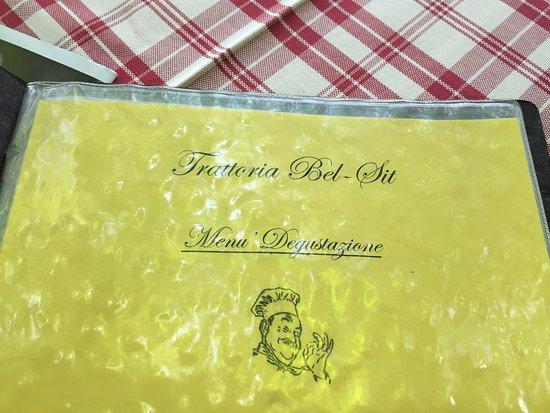 lista del menu\' - Picture of Bel Sit, Colico - TripAdvisor