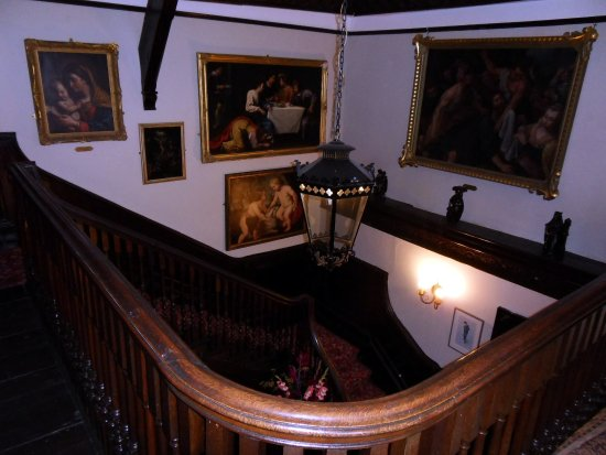 Chettle, UK: Castleman Hotel, staircase